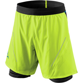 Dynafit Alpine Pro 2-in-1 Shorts Heren, fluo yellow